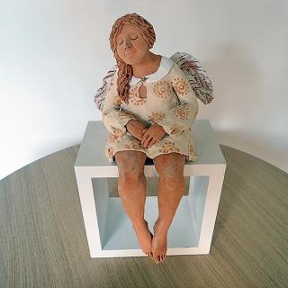 7313 - Anioł siedzący