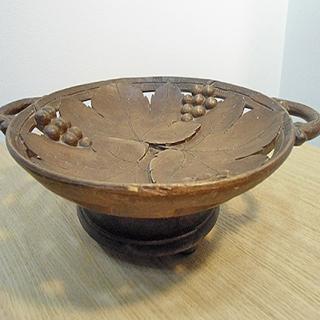 2317 - Patera drewniana z pozytywką