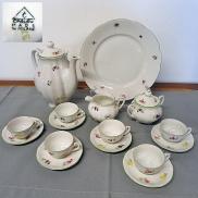 14 -  Komplet do herbaty na 6 osób Ćmielów